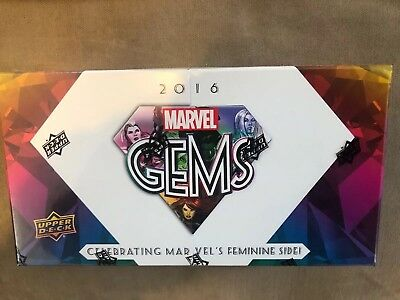 2016 Upper Deck Marvel Gems Factory Sealed Hobby Box Free Shipping