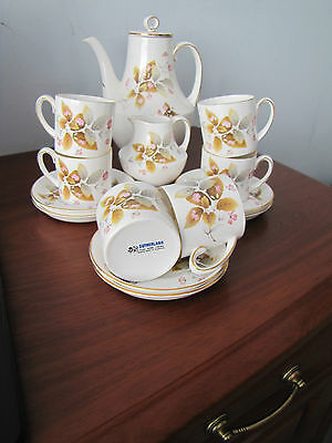 Vintage Sutherland Coffee/Espresso 14 piece Coffee/Espresso set Autumn Leaves