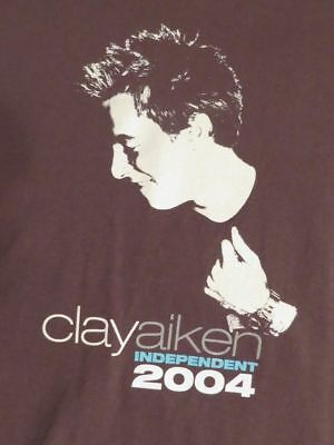 Clay Aiken: 2004 Independent Tour Concert T SHIRT Medium TEE American Idol Tee