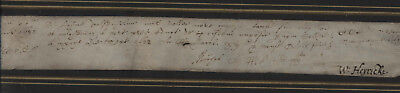 WILLIAM HEYRICK,1562-1653, MP LEICESTER CONTRACT DATED 1622 13 X 2ins  MAYOR