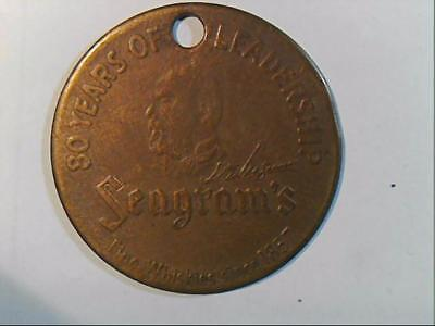 SEAGRAMS 80 YEARS OF LEADERSHIP  TOKEN / Coin Whiskey Recipe