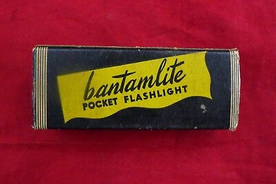 Vintage Bantamlite INC NYC, Pocket Flashlight, NOS