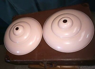 Vintage Enamel Light Shade X2