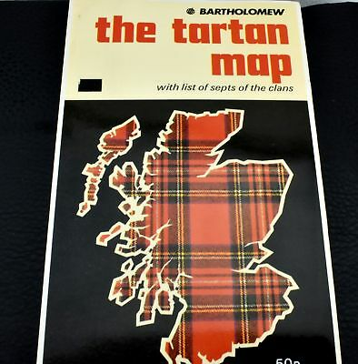 Vintage Bartholomew The Tartan Map Scotland Lists of Septs of The Clans Book