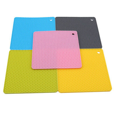Silicone Non-slip Heat Resistant Mat Coasters Cushion Placemat Pot Holder D