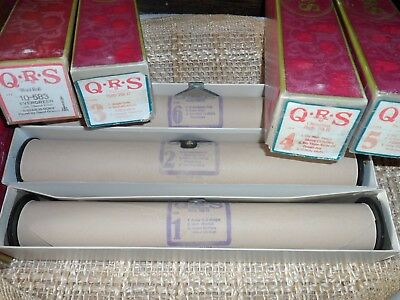 Set of 6 QRS Christmas Party Pak II Player Piano Rolls & Evergreen 10-583