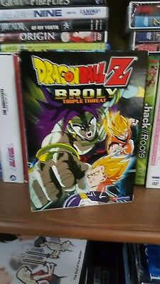 Dragon Ball Z: Broly - TRIPLE THREAT- 3-Pack (DVD, 3-Disc Set) Anime~Boxset