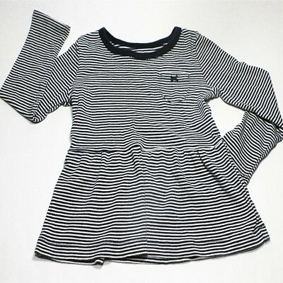 Carters navy blue with white stripes long sleeve toddler shirt size 4t