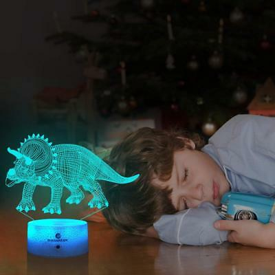 7 Colors Change with Timer Remote Kids Gifts Triceratops Dinosaur Toys for Boys