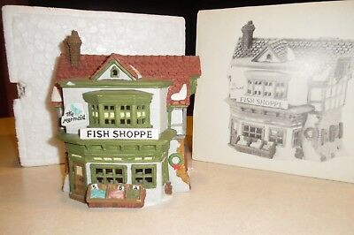 Dept. 56 Heritage Village Dickens The Mermaid Fish Shoppe in Box