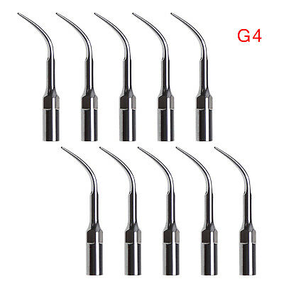10X Dental Ultrasonic Scaler Scaling Tip G4 fit EMS Woodpecker Handpiece UK TOP