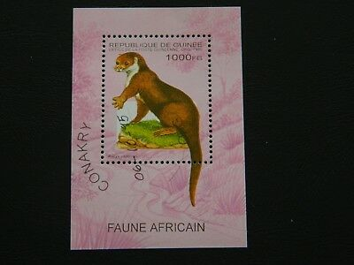 Guinea Stamps SG MS1640 issue1995 African Clawless Otter cancel Conakry 6-10-95.