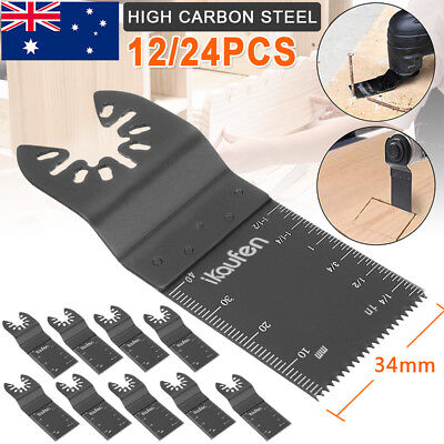 12/24x Multi Tool Saw Blades Wood Cutter for Fein MultiMaster Bosch Dewalt Ozito