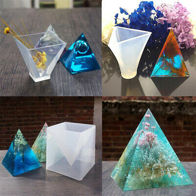 PYRAMID SILICONE MOLD Resin Jewelry Making Mould Epoxy