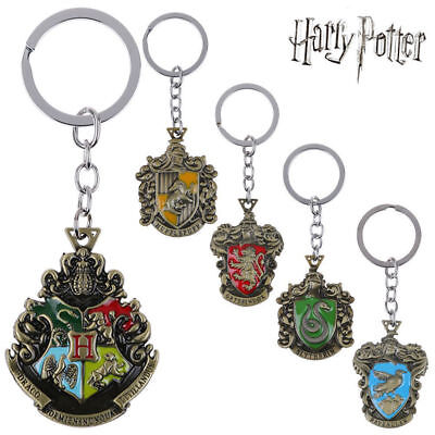 For Harry Potter Hogwarts Crest Small Keyring Metal badge Pendant Keychain Gifts