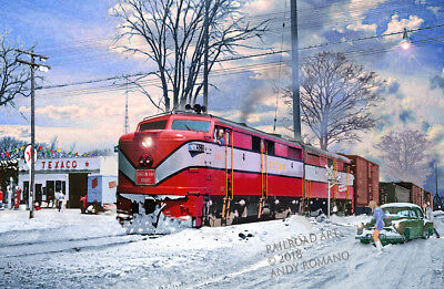 GB&W (KGB&W) GREEN BAY ALCO FAs, ART BY ANDY ROMANO LIMITED 1st EDITION R15-229
