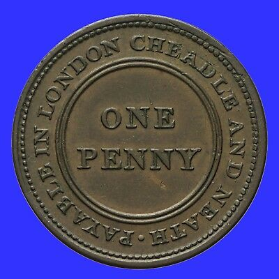 Staffordshire Cheadle Copper and Brass Company penny token 1812  Withers 667