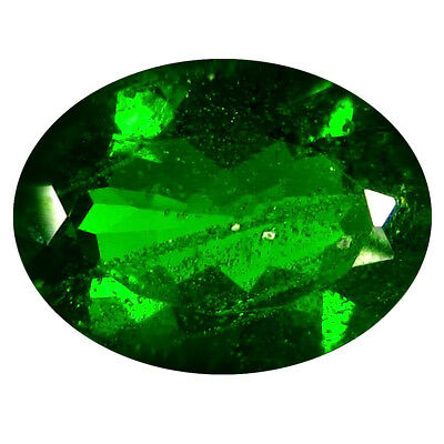 3.51 Ct AAA Merveilleux Forme Ovale (12 9 mm) Vert Chrome Diopside