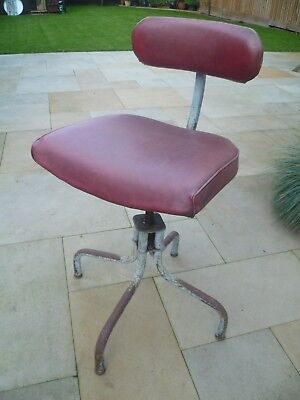 Industrial Vintage Tansad Machinist Adjustable Swivel Chair *free Delivery*