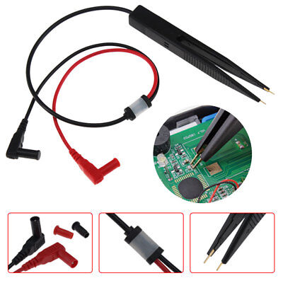 1Pc SMD Inductor Test Clip Probe Tweezers for Resistor Multimeter Capacitor