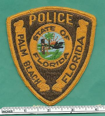 Old Palm Beach FL Fla State of Florida Law Enforcement Police Shoulder Patch
