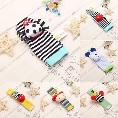 New Baby Infant Kids Cartoon Animal Shape Hand Wrist Bells Foot Sock IS 01
