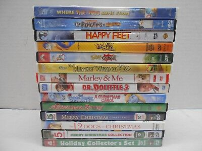 Lot of 14 Cartoons Animated Christmas Happy Feet The Penguins of Madagascar DVD