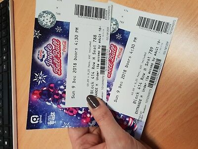 Capital Jingle Bell Ball Tickets X 2.  Sunday 9th December BLOCK 414 Row H Seat