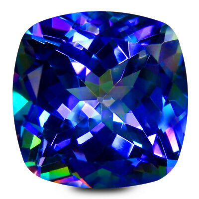 13.73 Ct AAA+ Étonnant Coussin Forme (14 X 14 mm) Violet Extra Fin Chance Topaze