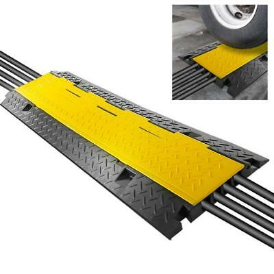 Pyle Cable Protector Ramp w/ Flip Access Lid (Four Extra Wide Channel Style)