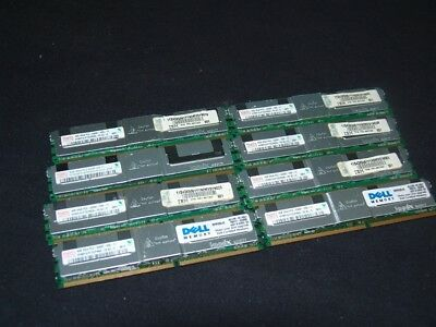 Lot of 8 4GB 32GB PC2-5300F DELL IBM HP SERVER RAM MEMORY! 2RX4 HYNIX ECC!!!