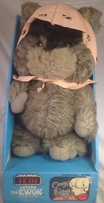 VTG 1984 Star Wars LATARA EWOK Plush Stuffed ROTJ Kenner 99580 RARE w/BOX