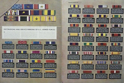 U.S. Army Navy Marines Service Ribbons Ad WWII Print Ad