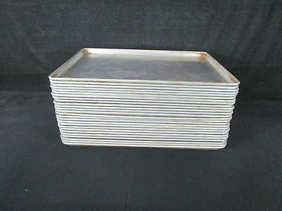 """Lot of 26 Flat Baking Sheet Pans 26"""" X 18"""" Used and Worn See Description (140)"""