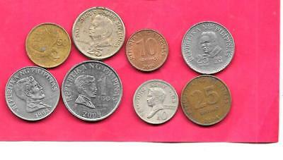 Philippines 8 Difff Different 1969-2009 Coin Lot Collection Set Inc Old & Large