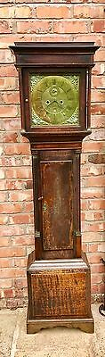 8 Day Oak Longcase Grandfather Clock W. Rowning Brandensary Brandon? 5 PILLAR