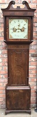 Antique 8 Day Mahogany Longcase Grandfather Clock J. BEECROFT LITTLE LEIGH