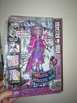 Monster High Doll Ari Hauntington, Singing Popstar, 4 Play Modes, Unopened