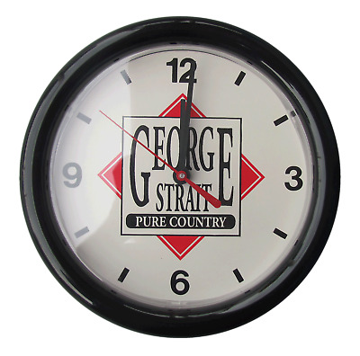 .George Strait Pure Country Fan Club Wall Clock - Never Used - Very Rare