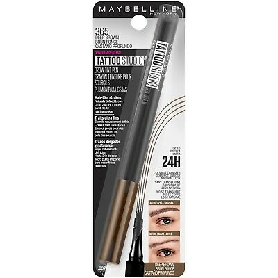 MAYBELLINE Tattoo Studio Brow Tint Pen DEEP BROWN 365 NEW eye eyebrow