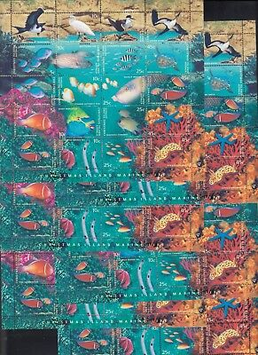 CHRISTMAS ISLAND 1998 MARINE LIFE - 6 sheetlets, MNH, Face value = $12