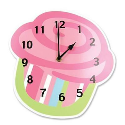 Trend Lab 108156 Shaped Wall Clock- Cupcake - 11x11x0.37 in. Thick MDF