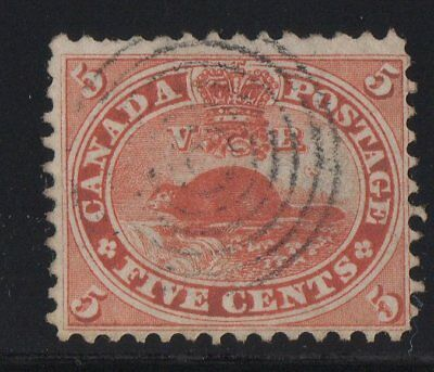 MOTON114    #15 Beaver 5c  Canada used well centered
