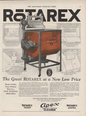 1924 Apex Rotarex Washing Machine Appliance Electric Ad9097