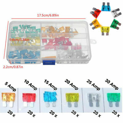 120pcs Mini Blade Fuse Assortment Set Auto Car Motorcycle SUV FUSES Kit APM ATM