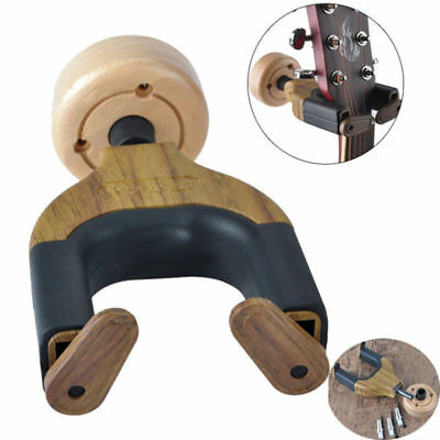 2X Pack Wooden Guitar Hangers Hook Holder Wall Mount Display Instrument From USA