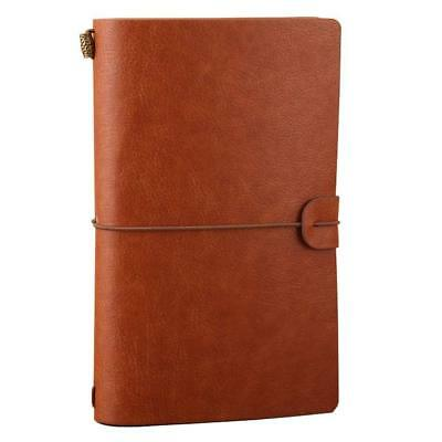Travel Journal Notebook Vintage Retro Handmade Leather Lined Journal Refillable