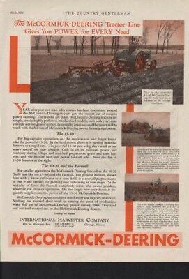1930 International Harvester Tractor Farm Field Plow Ad10361