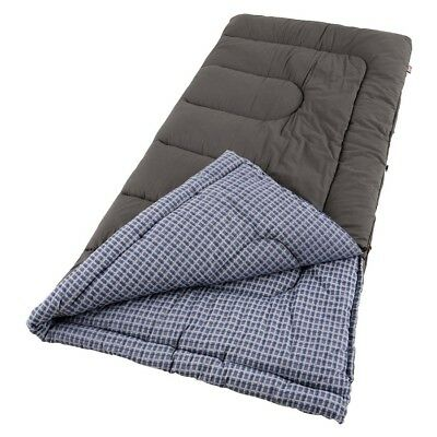 Coleman King Size Cold Weather Camping Sleeping Bag Camping Gear Cotton Flannel