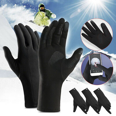 Mens Womens Full Finger Gloves Waterproof Thermal Warm Touch Screen Mittens